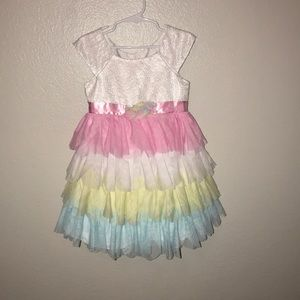 Jona Michelle Tiered Party Easter Dress Girls 4T
